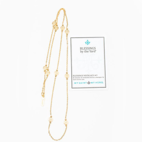 Blessings by the Yard Necklace - Gold