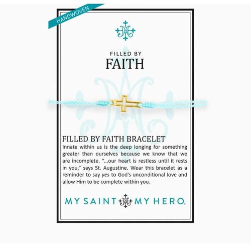 Filled By Faith Open Cross Bracelet Gold, Mint