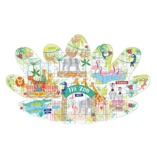 """Jungle 80pc """"Leaf"""" shaped jigsaw puzzle"""
