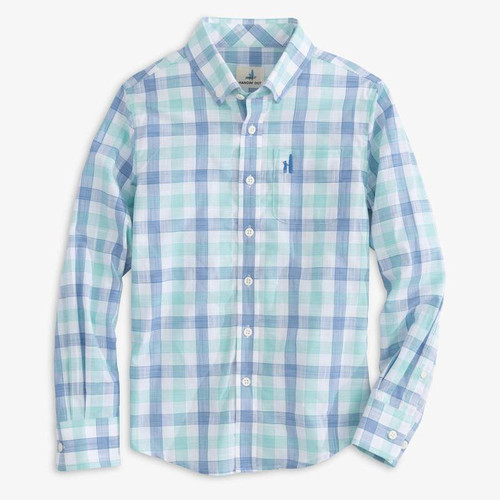 BOY'S Jr. Humphrey Hangin' Out Button Down Shirt-DEEP WATER