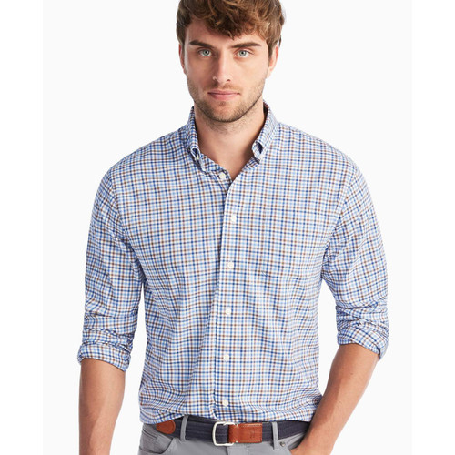 Stan Prep-formance button down shirt- WAKE
