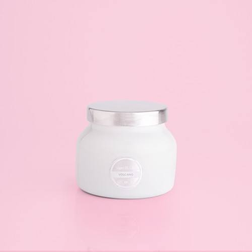 Volcano White Petite Jar Candle, 8 oz