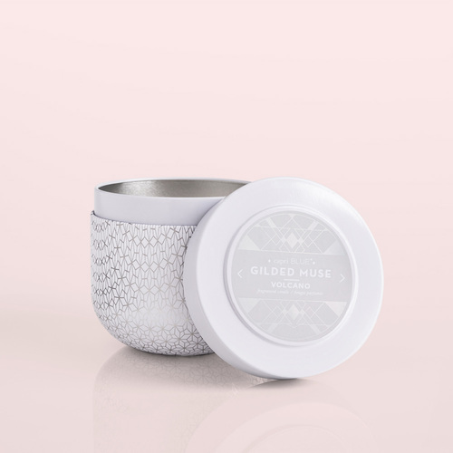 Volcano Gilded Tin Candle, 12.5 oz