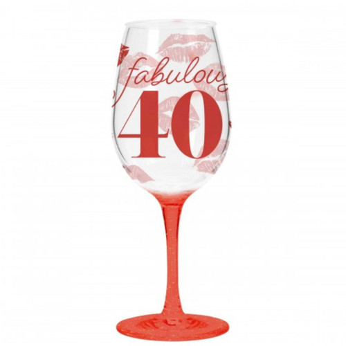 Fabulous 40th- ACRYLIC WINE DRINK WARE SINGLE