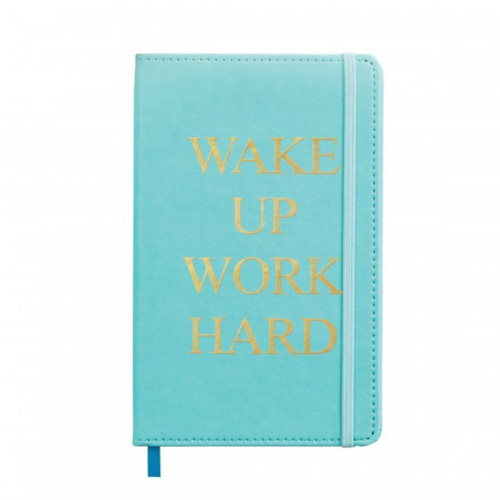 Wake Up Work Hard- MED BOUND JOURNAL LEATHERETTE