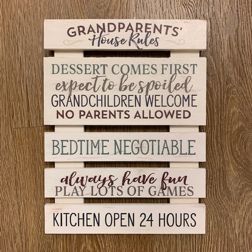 Grandparents' House Rules - 8.25X11