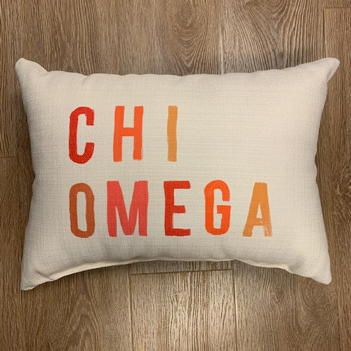 Chi Omega Pillow- tonal Colors