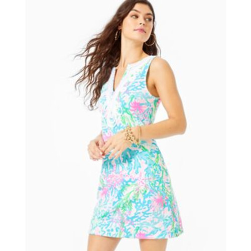 Harper Shift Dress- Multi Coral Bay