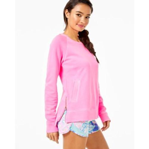 Beach Comber Pullover Sweatshirt  Mandevilla Baby Pink