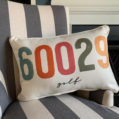City Zip Code Pillow- Golf
