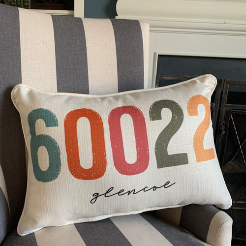 City Zip Code Pillow- Glencoe
