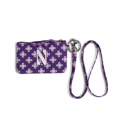 Northwestern University- Zip ID Lanyard-Purple/White Mini Concerto