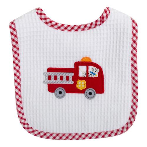 Firetruck Feeding Bib