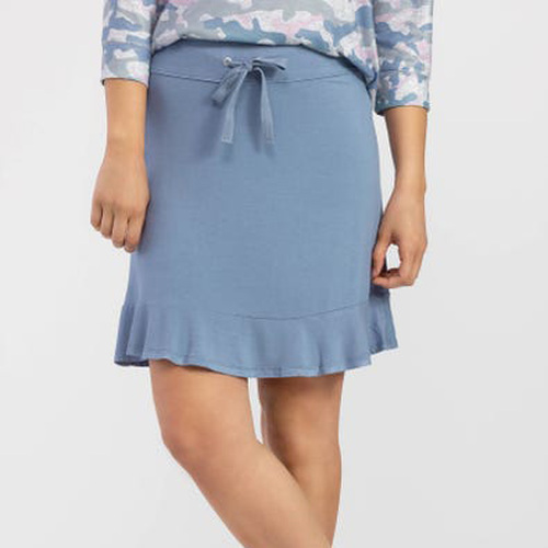 Dust Blue Ruffle Skort