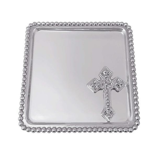 Cross Beaded Statement Tray
