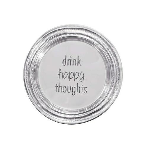 Drink Happy Thoughts Signature Wine Plate