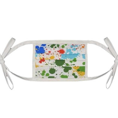 Kids Tie Back Mask- Splatter