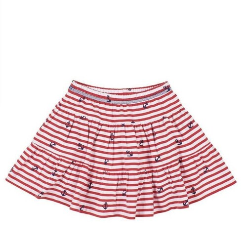 Red White Stripe Anchor Skort