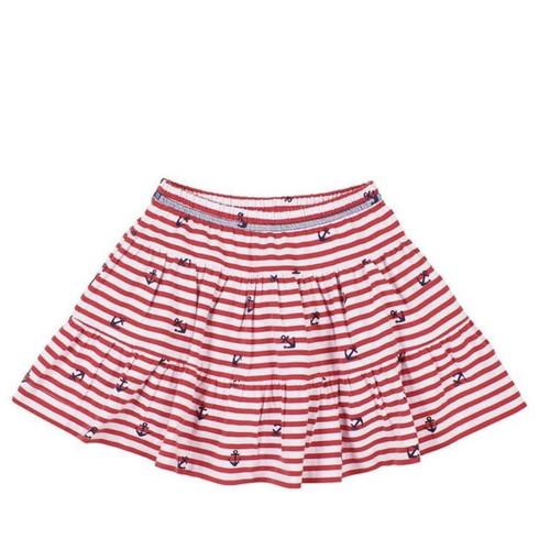 Red White Stripe Anchor Skort