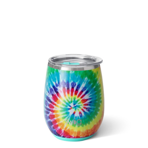 Stemless Wine Cup (14oz)- Swirled Peace