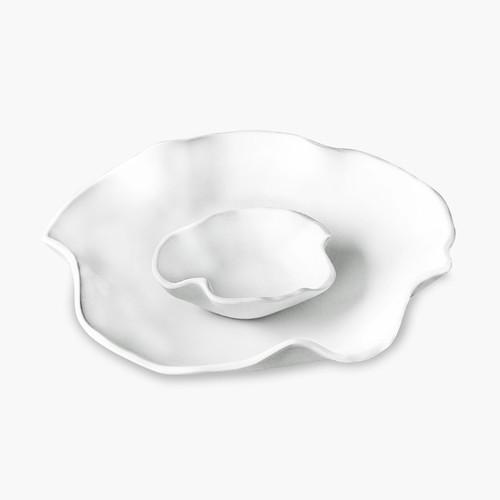 VIDA Nube bowl w/dip white