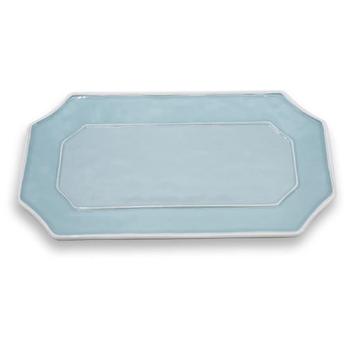 VIDA Charleston long rect platter blue