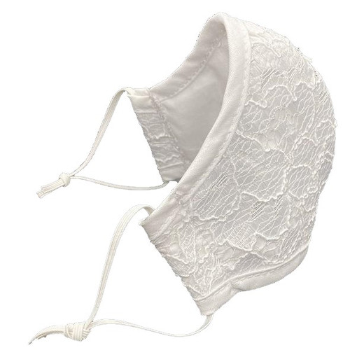 Adult  Contour Lace Masks White