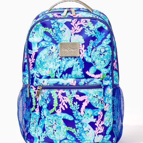 Cambrie Large Backpack Corsica Blue Turtle Villa-1 SZ