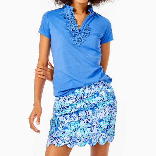 Monica Scallop Skort Upf 50+ Saltwater Blue Suns Out Funs Out Golf