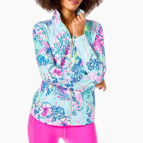 Round Hem Leona Zip-Up Jacket UPF 50+ Multi Beach You To It