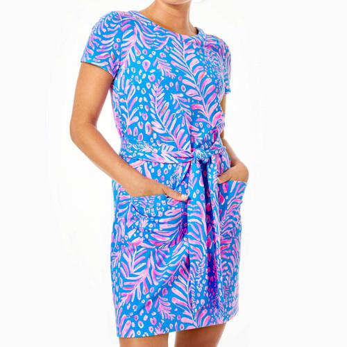Glenn Short Sleeve Dress Pundy Blue La Zebra