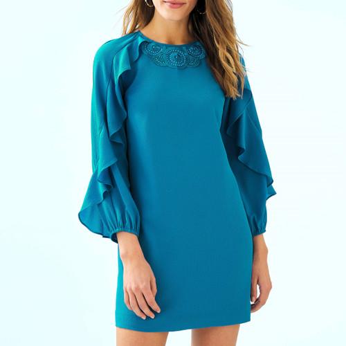 Leni Dress Mr Peacock Blue