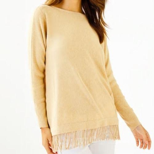 Glenda Sweater Heathered Sand Bar