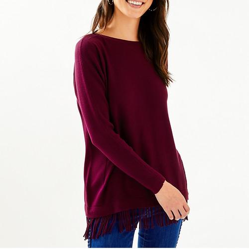 Glenda Sweater Cabernet Berry