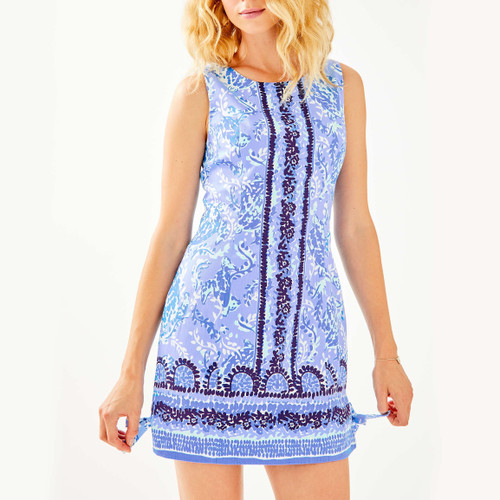 Mila Stretch Shift Dress Blue Peri Turtley Awesome Engineered