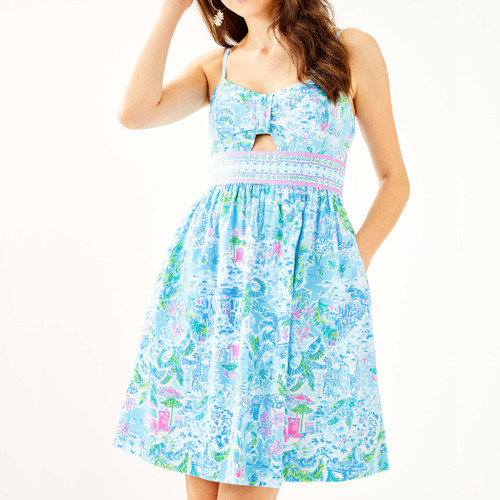 Katlynn Dress Multi What A Lovely Place Engineered