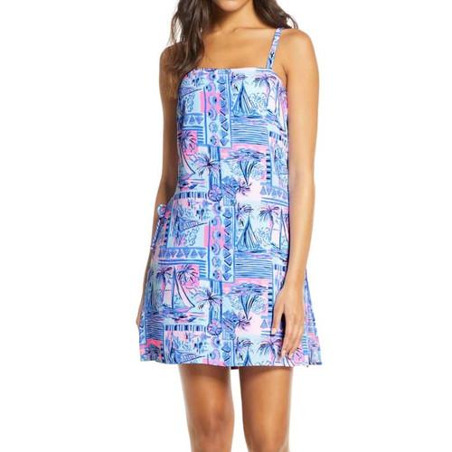 Sahar Romper Dress Whisper Blue Yeah Buoy