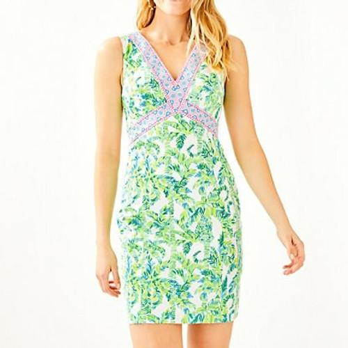 Lanora Stretch Shift Dress Fresh Citrus Keep Palm Engineered Dress