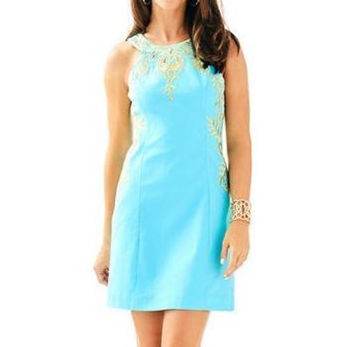 Tina Stretch Shift Dress Blue Ibiz