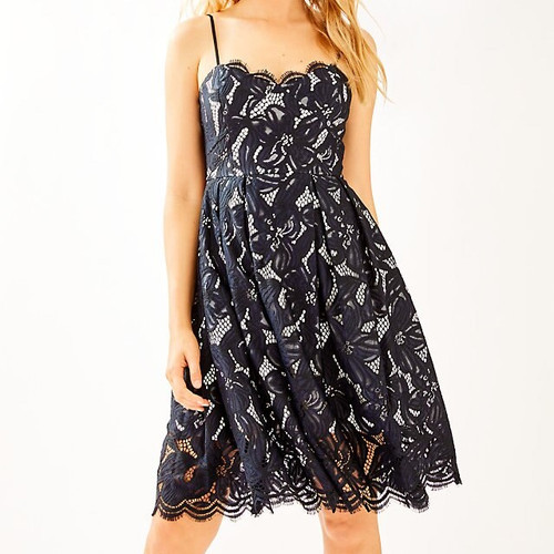 Camella Dress Onyx Two Tone Orchid Lace