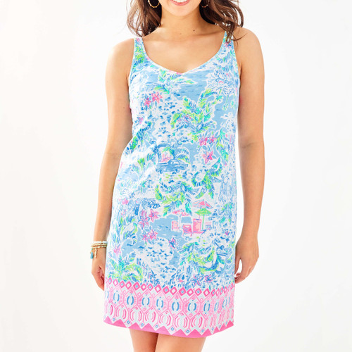 ADRIANNA DRESS Multi What A Lovely Place Engineered Knit Dress