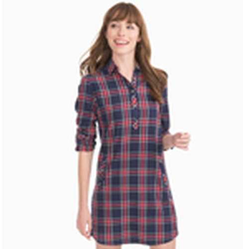 Alyssa Shirtdress Spice Plaid Navy