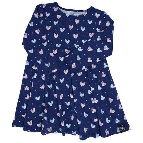 Swirly Girl Dress Hearts