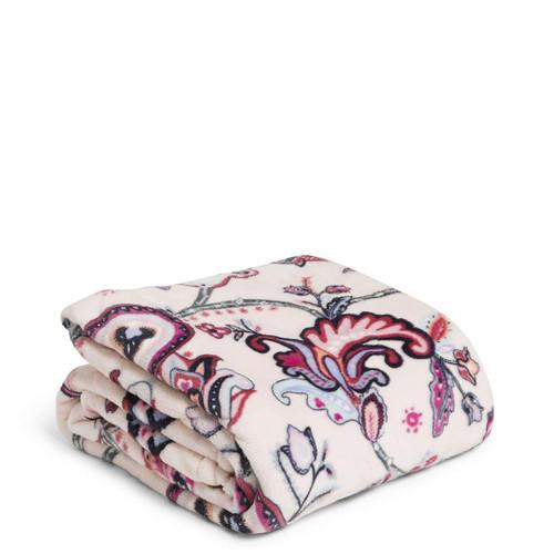 Plush Throw Blanket Felicity Paisley Pink
