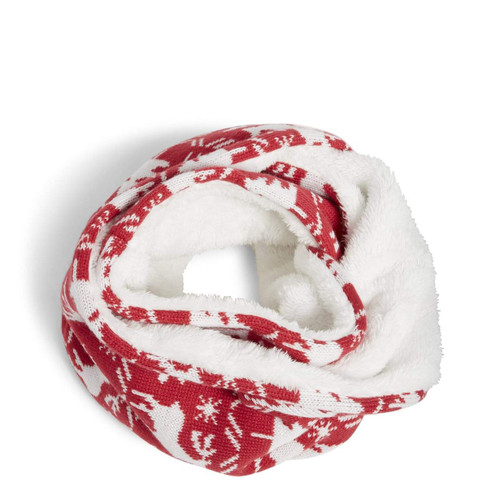 Cozy Cowl Reindeer Intarsia Red