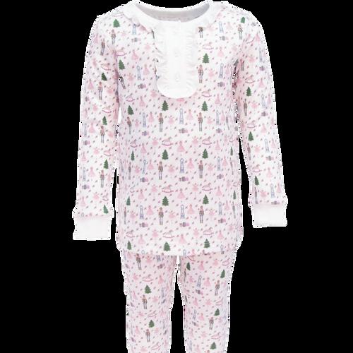 Alden  2pc Pajama Set w/Ruffled Henley Top Nutcracker Princess