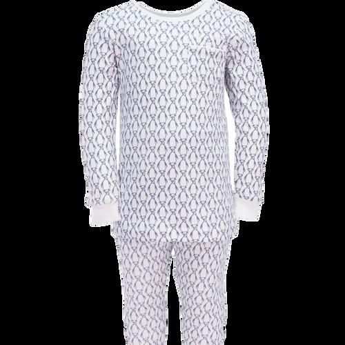Bradford 2 pc Pajama Set w/Piped Pocket Penguins
