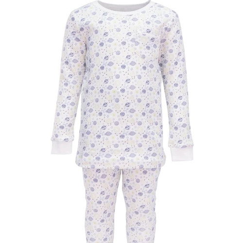 Bradford 2 pc Pajama Set w/Piped Pocket Outerspace