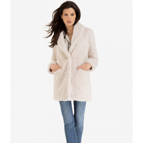 Lux Sherpa  Coat  Cream