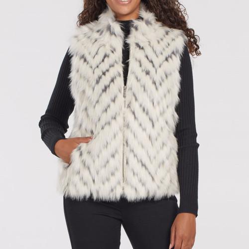 Faux Fur Vest Eggshell